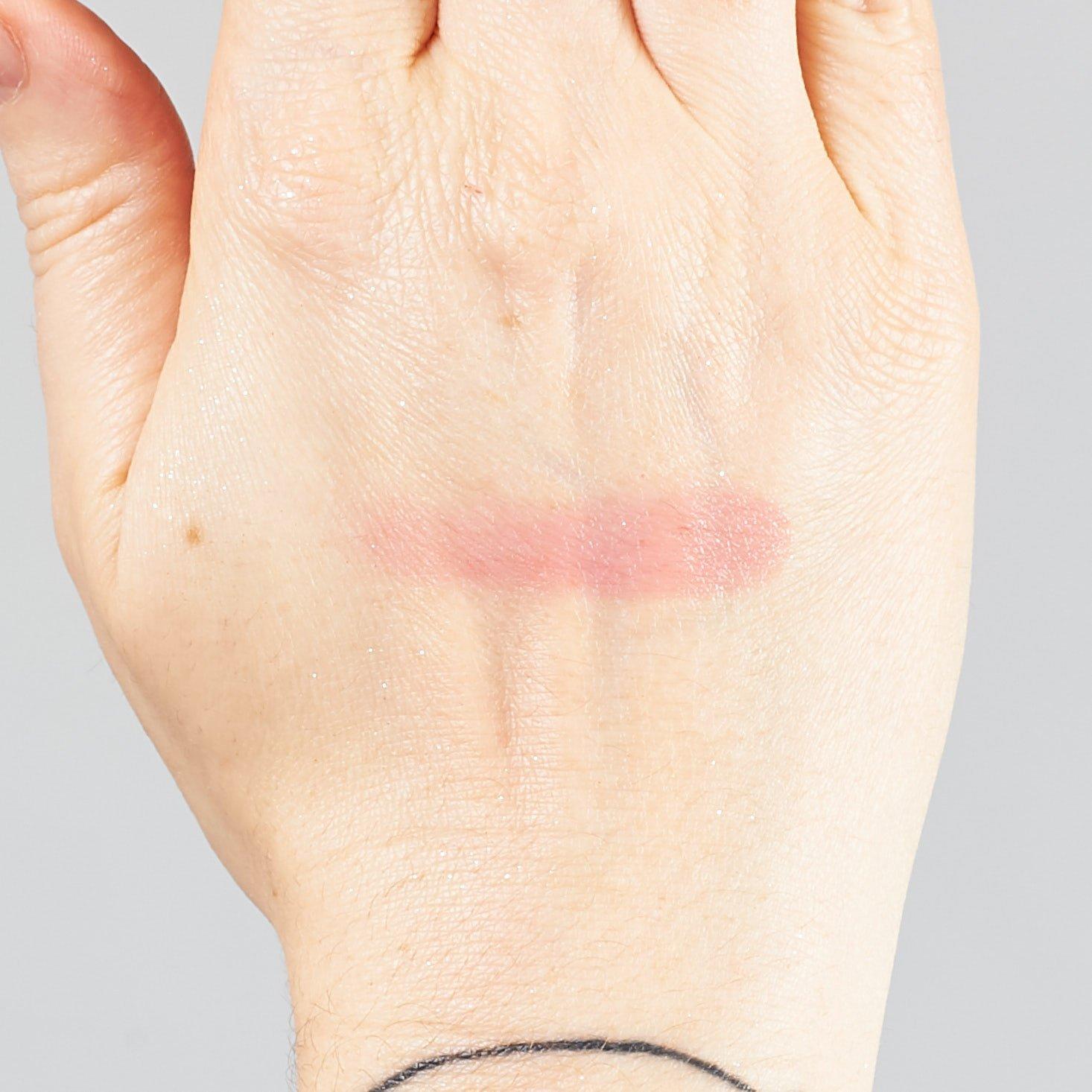 swatch of Beautaniq Beauty Butter Lip & cheek Balm in Mauve Lychee