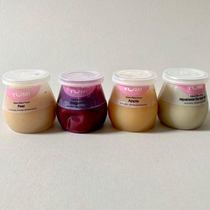 Yumi Baby Food Fruit Purees in Jars