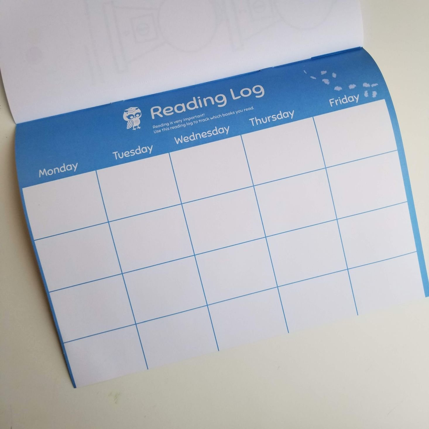 Preschool Box January 2020 reading tracker