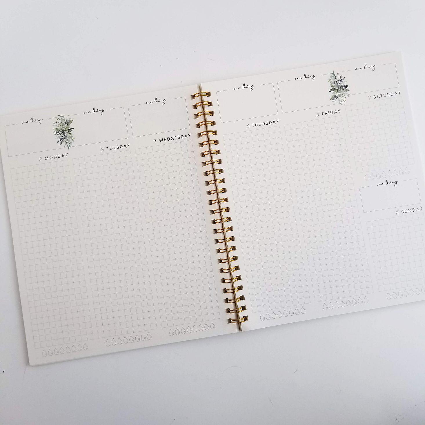 Silk + Sonder Planner March 2020 weekly spread