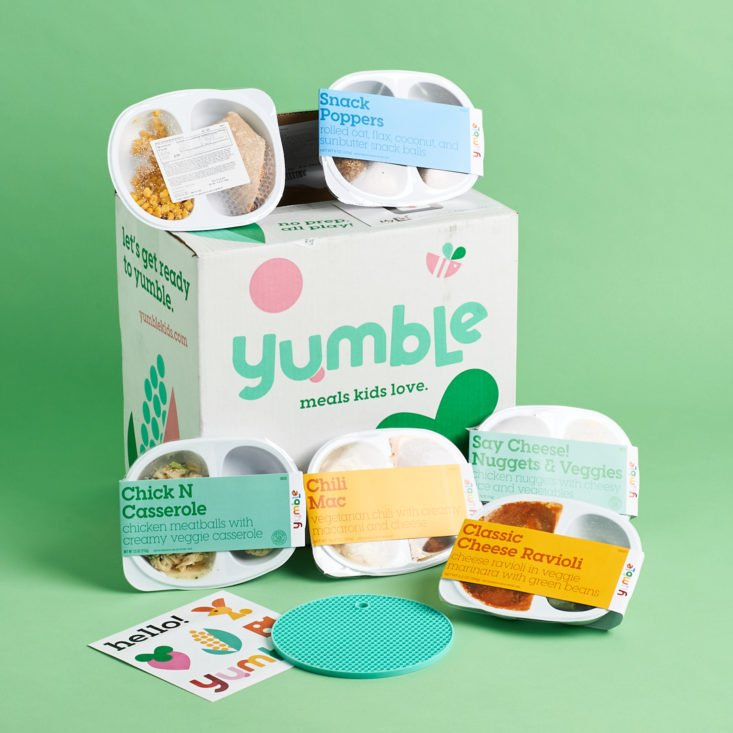 Yumble Subscription display of all kids meals received