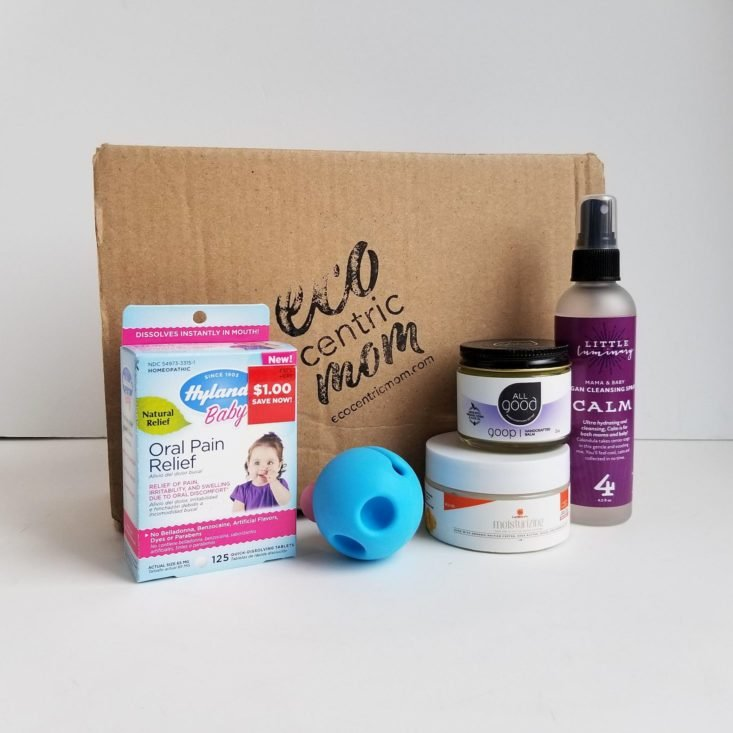 Ecocentric Moms Box May 2020 all items