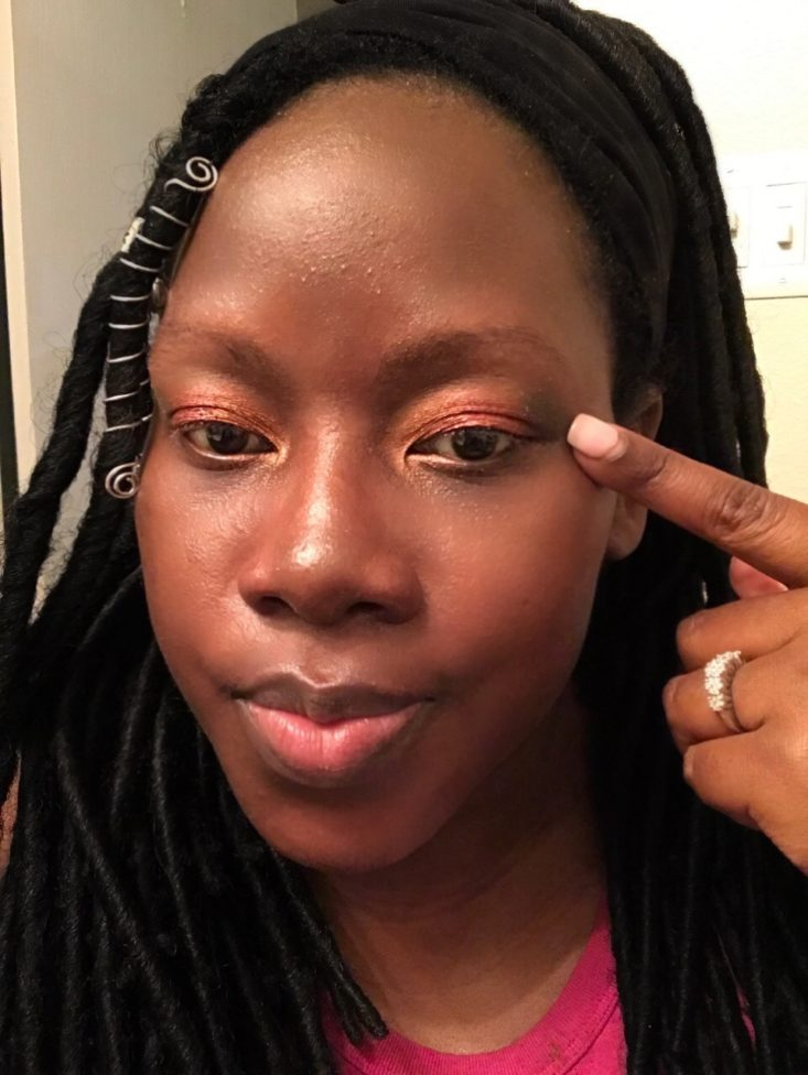 Boxycharm Tutorial July 2020 _ Pointing To The Black Shade On The Outer Corner Of My Eye