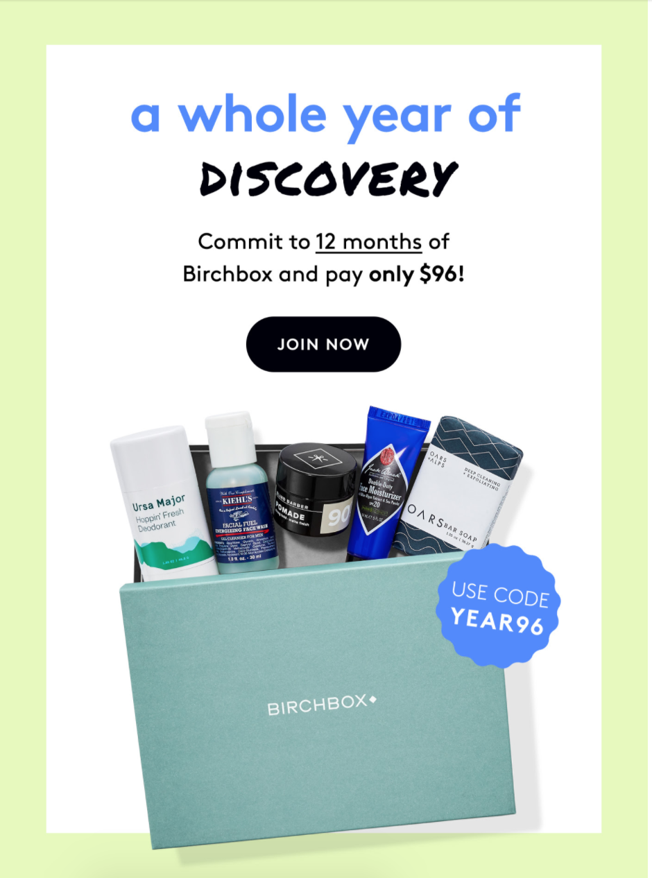 Birchbox Grooming Coupon – Get An Annual Subscription for $8 a Box!