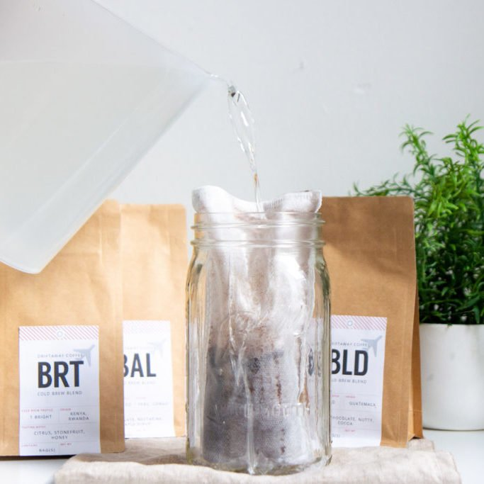 Driftaway Coffee pictured alongside cold brew being made.