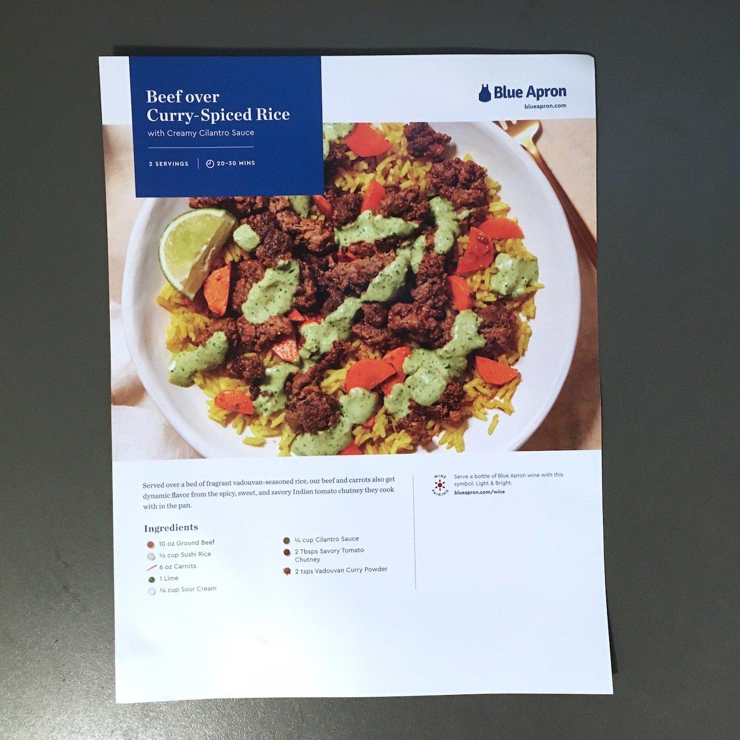 beef bowl recipe card