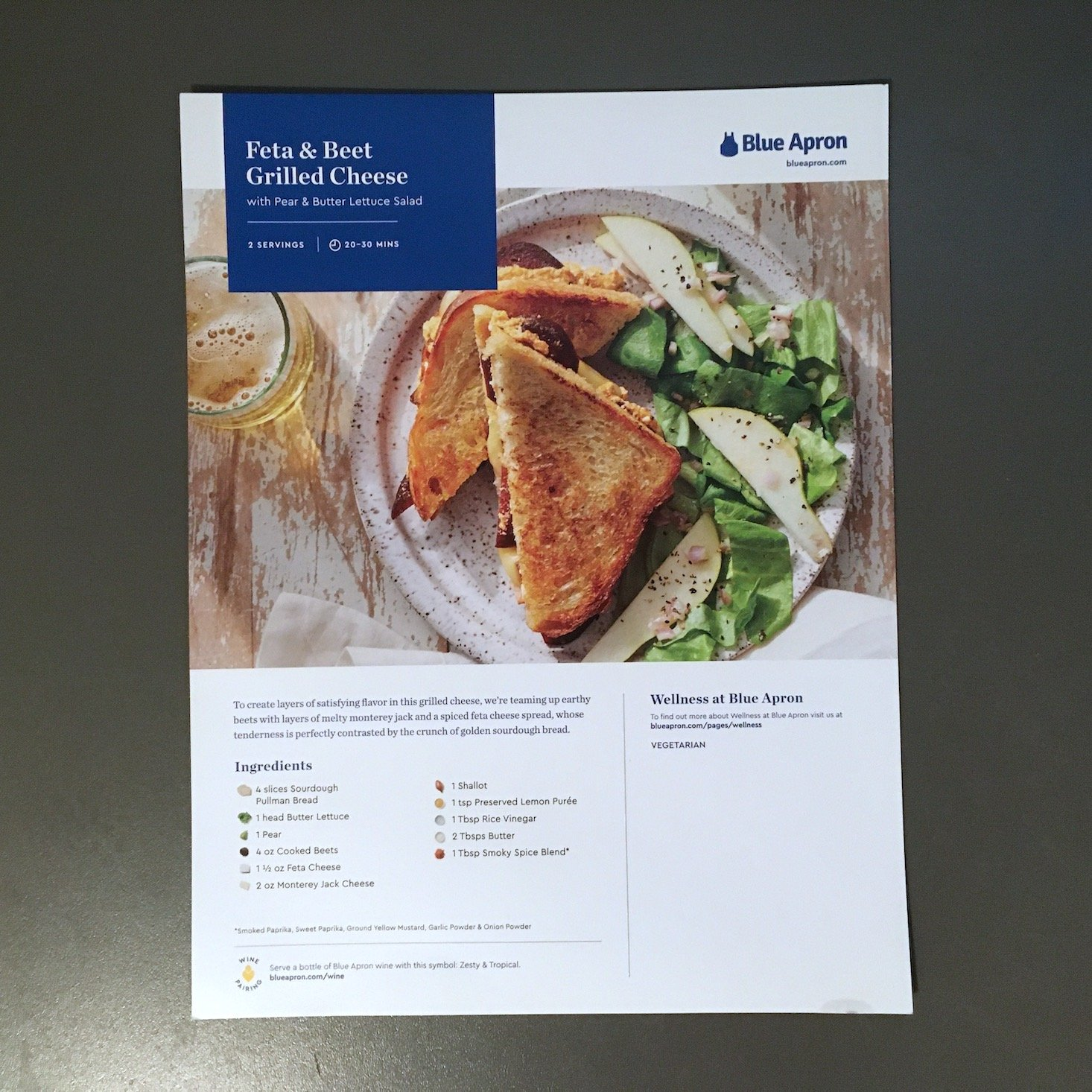 grilled cheese recipe card