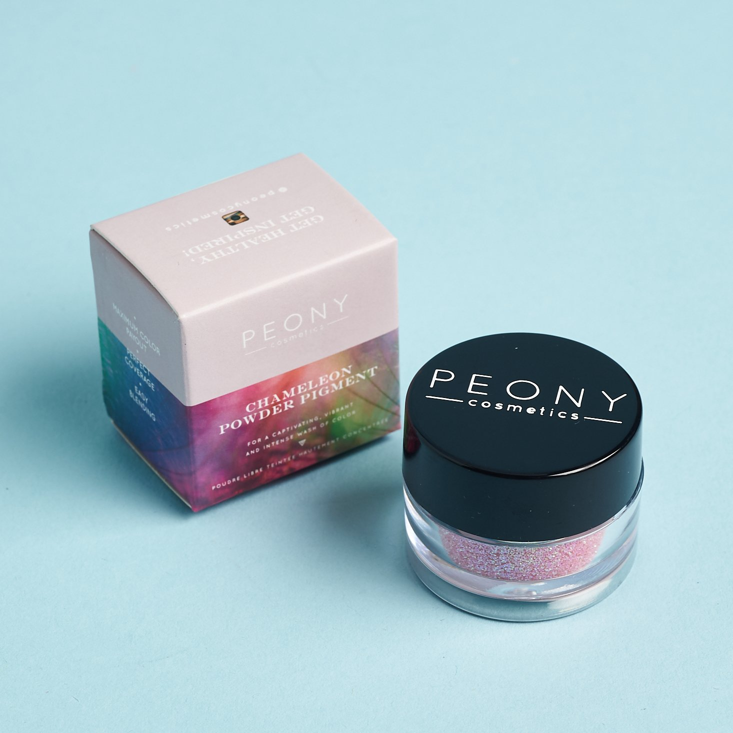 Peony Cosmetics Chameleon Powder Pigment Front for Nourish Beauty Box August 2020