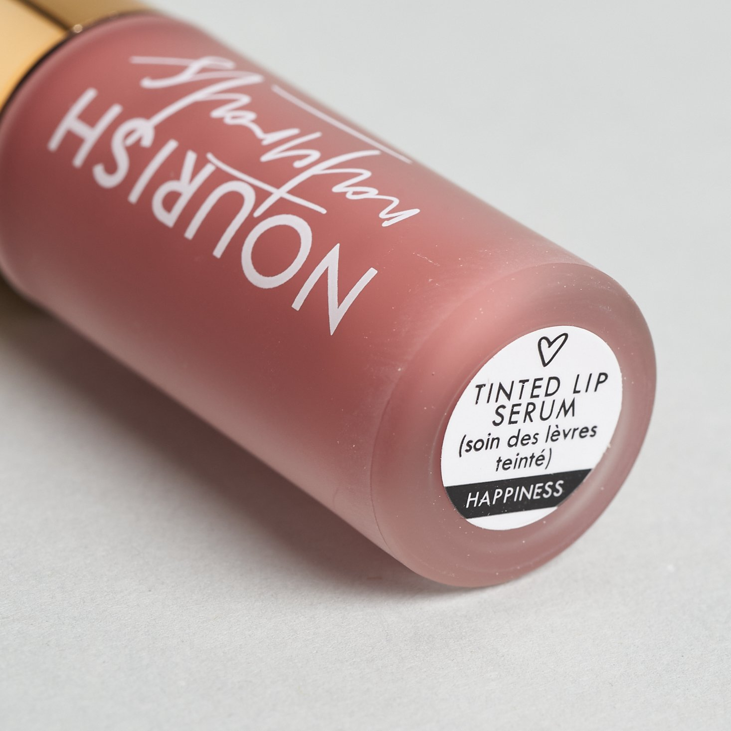 Nourish Naturals Tinted Lip Serum in Happiness Close-Up for Nourish Beauty Box September 2020