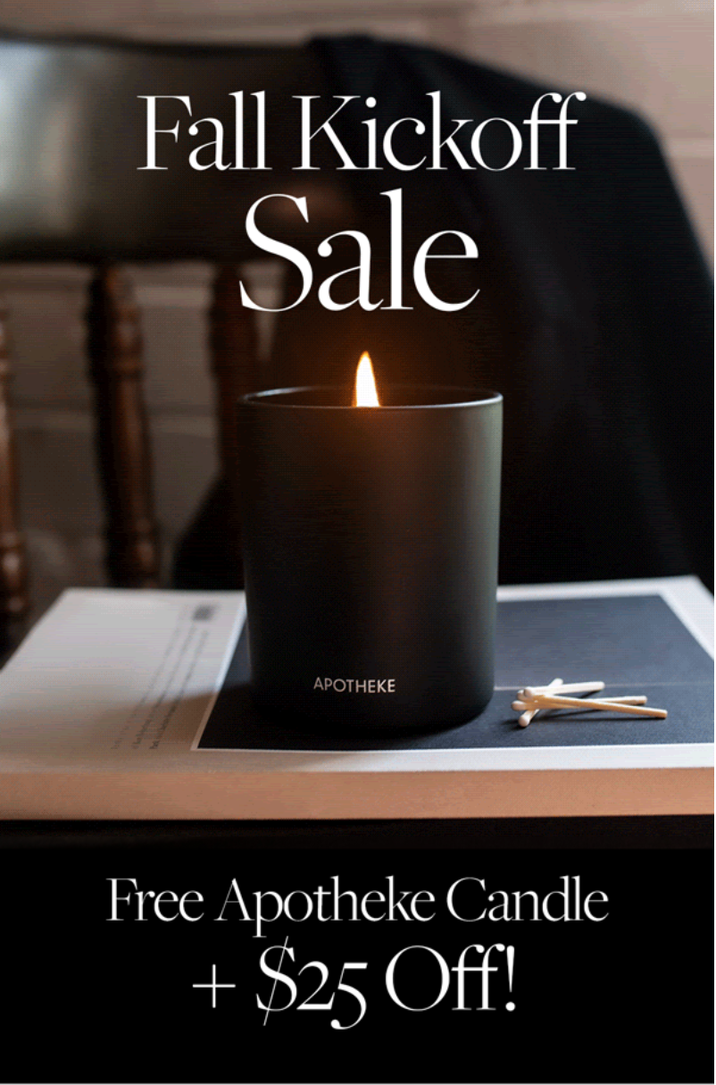 CURATEUR Deal: Free Apotheke Candle + $25 Off!