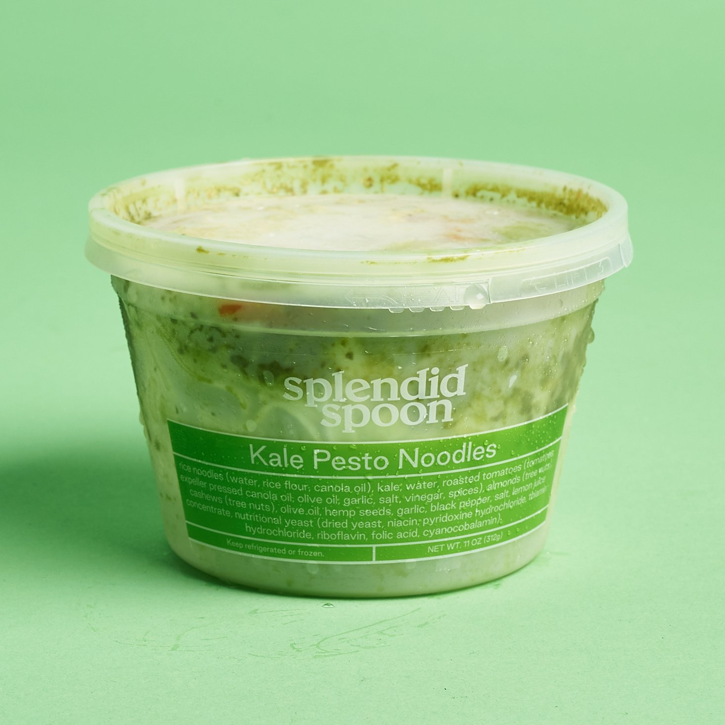 Splendid Spoon August 2020 kale pesto noodles