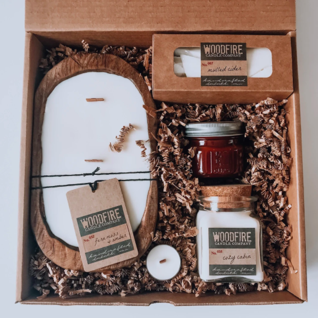 Woodfire Candle Co subscription box example