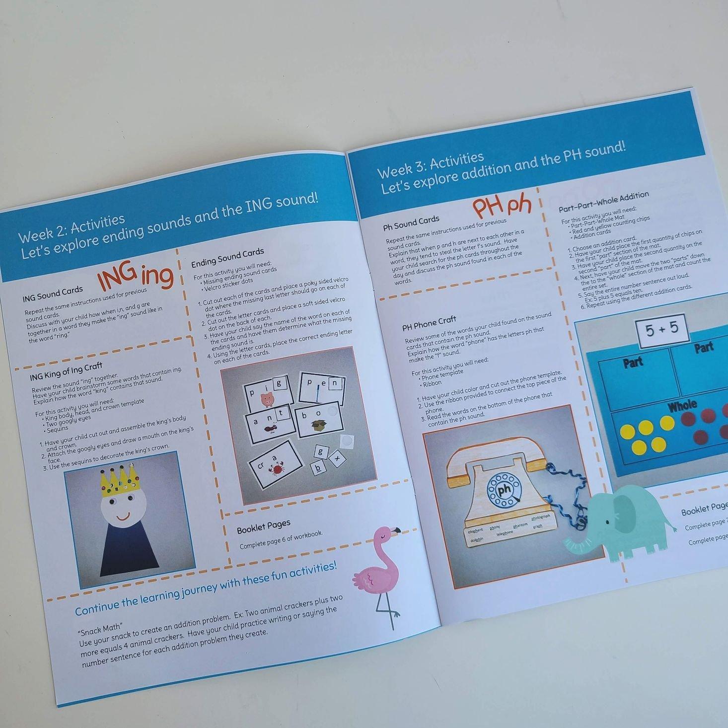 Preschool Box October 2020 parent guide week 2 and 3