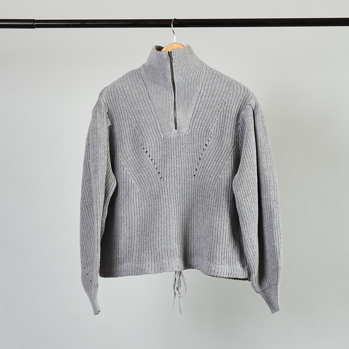 grey quarter-zip sweater from Frank and Oak