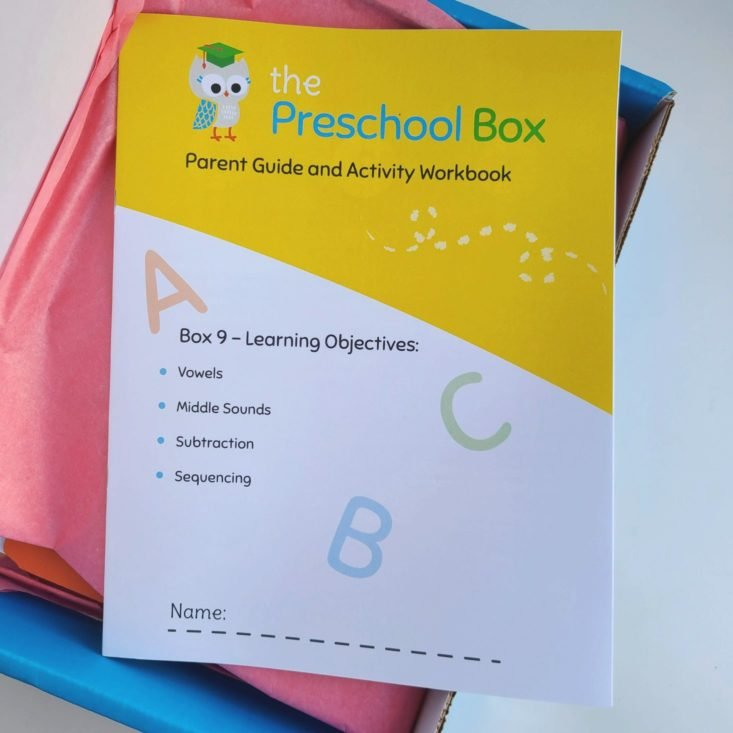 Preschool Box November 2020 booklet