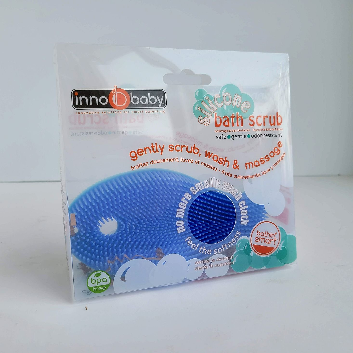 Ecocentric Moms Box Bath scrubber packaging