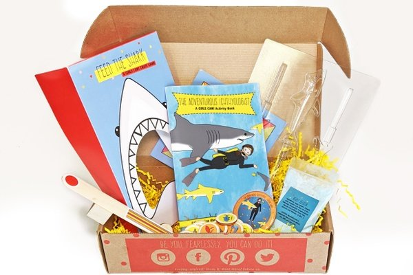 shark activity books in box