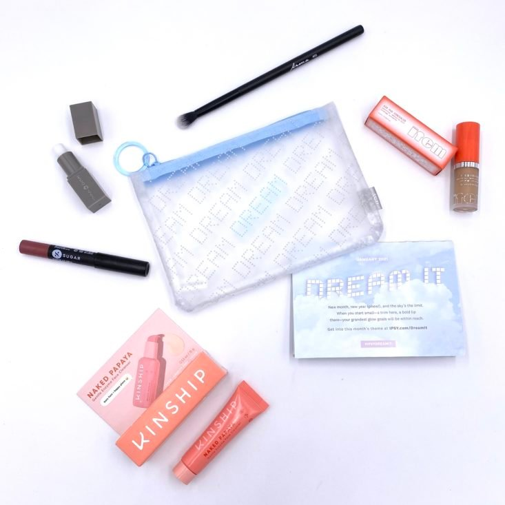 Full Contents for Ipsy Glam Bag January 2021