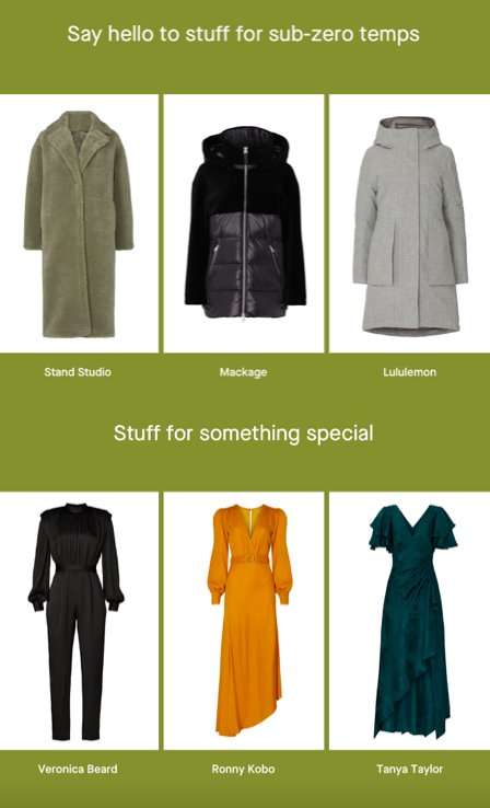 Rent the Runway January 2021 Outerwear and Occasion Wear Plan Sale