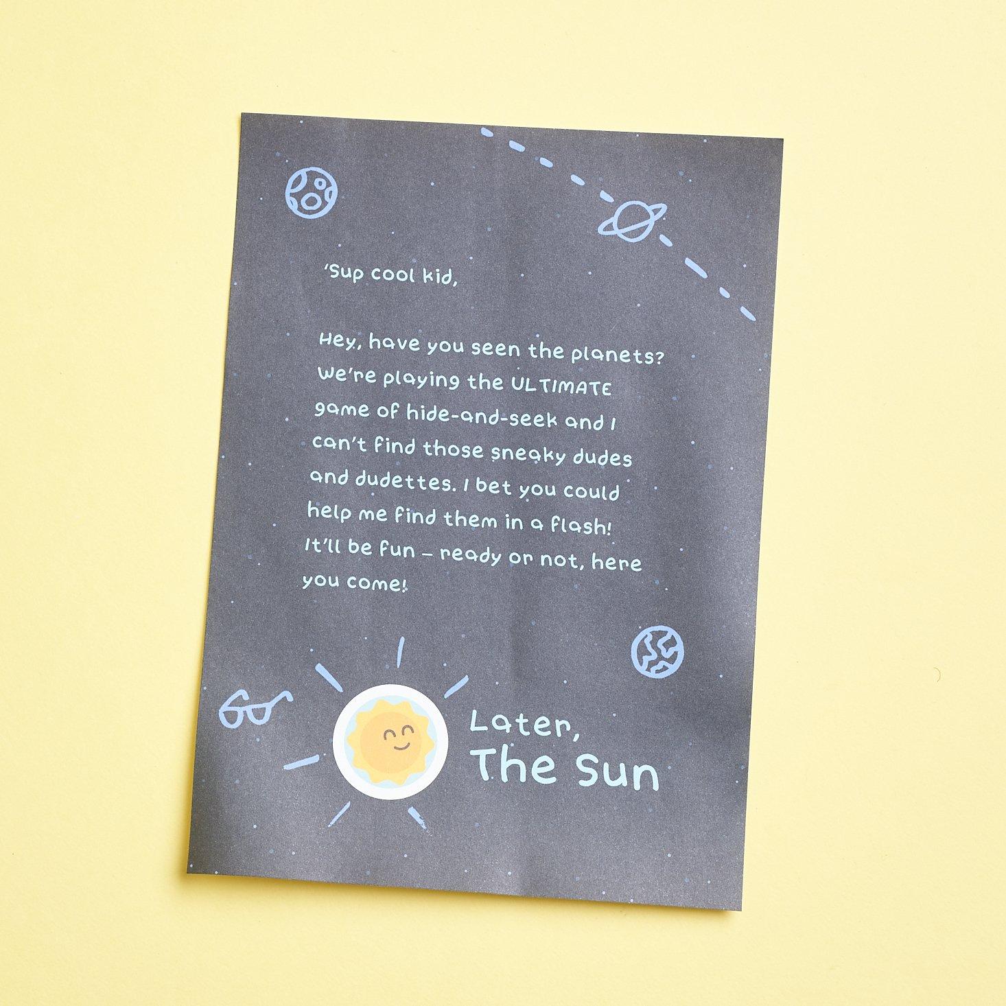 Sago Mini Box March 2021 sun letter