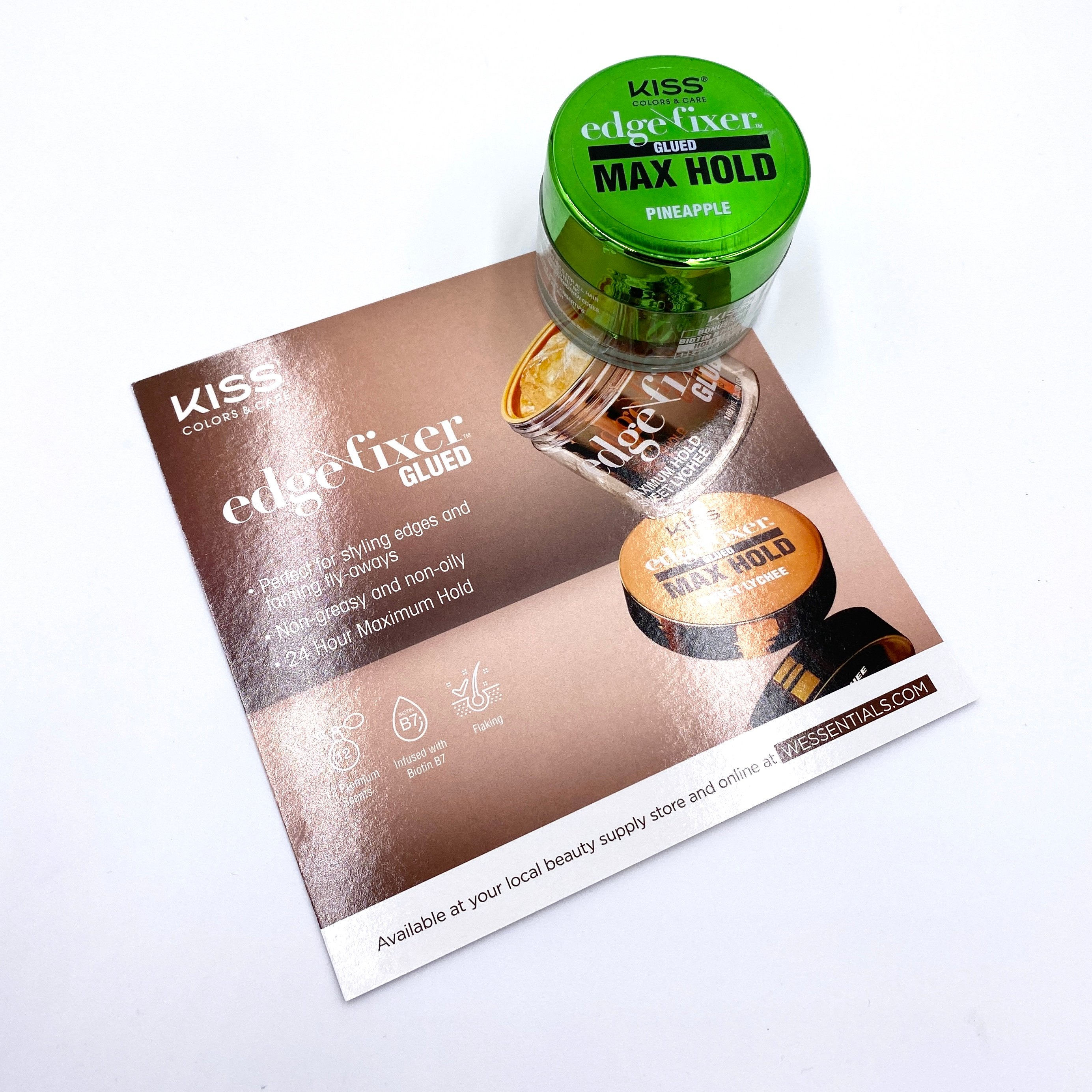 Kiss Colors & Care Edge Fixer Glue Front for Cocotique March 2021