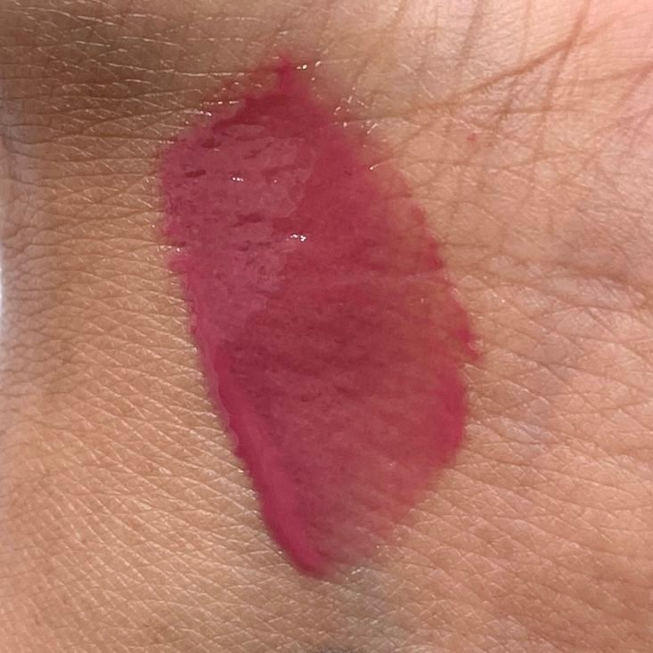 BareMinerals Gen Nude Patent Lip Lacquer in Pout Swatch for Birchbox March 2021