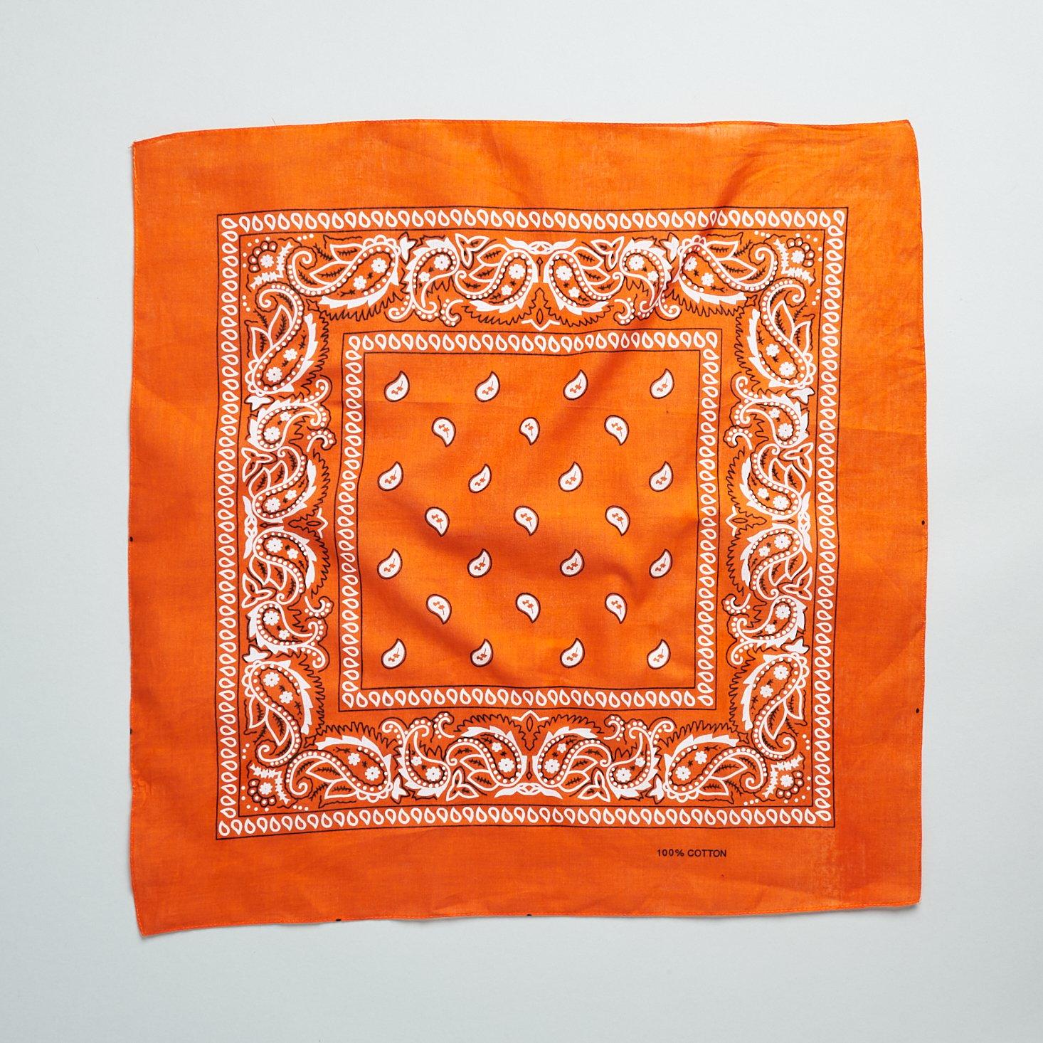orange bandana from PostBox April 2021