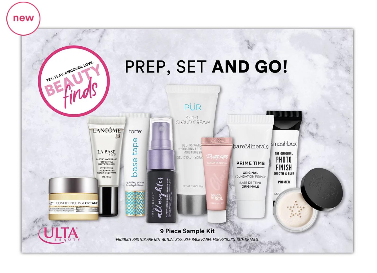 Beauty Finds by ULTA Beauty Prep, Set & Go Sample Kit – Available Now