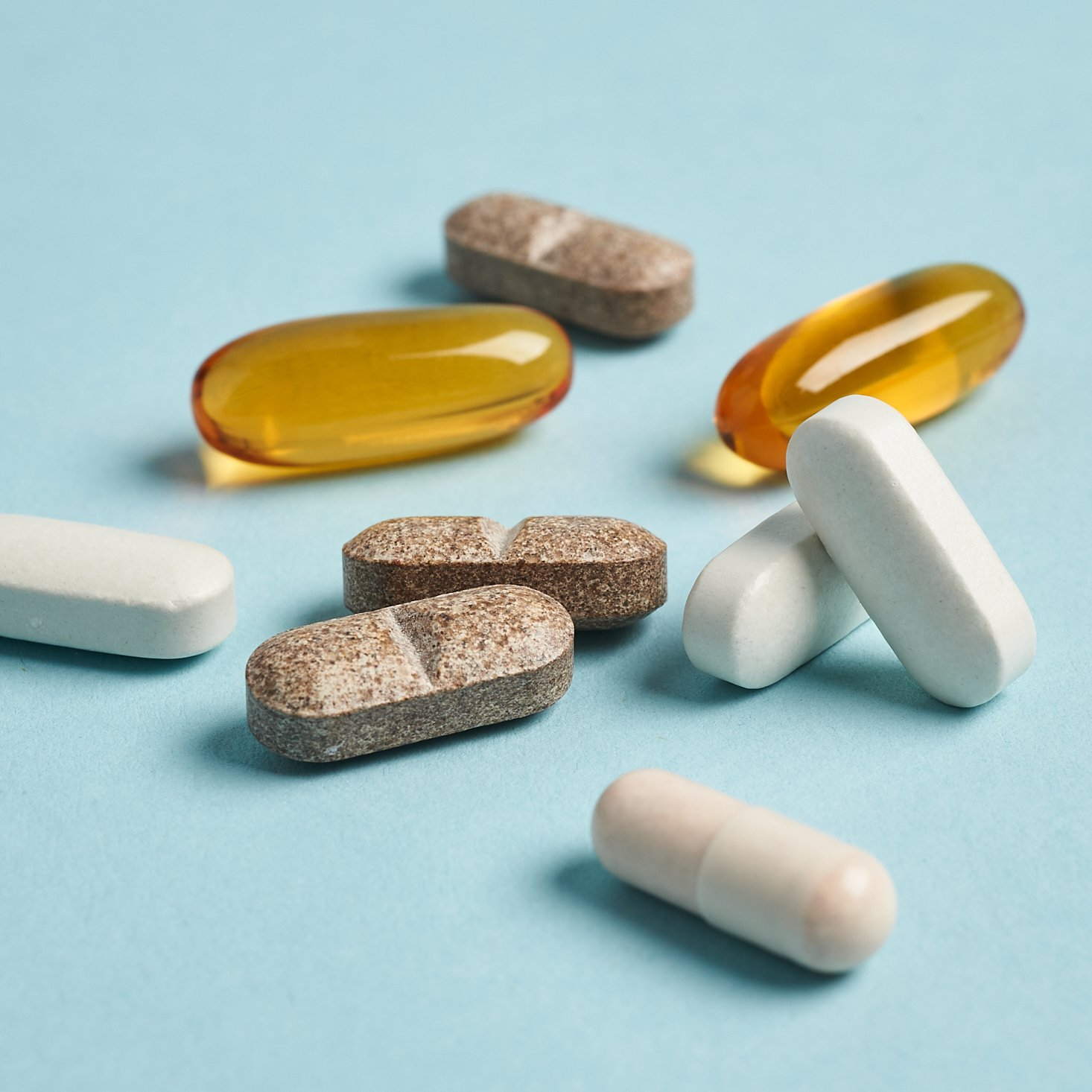 assortment of care/of daily vitamins