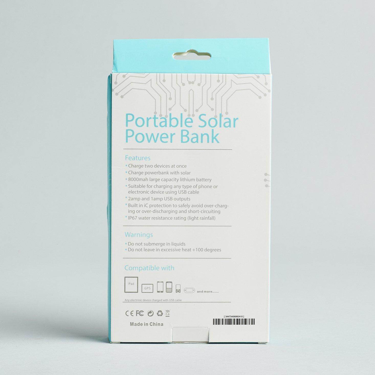 Breo Box Summer June 2021 solar charger