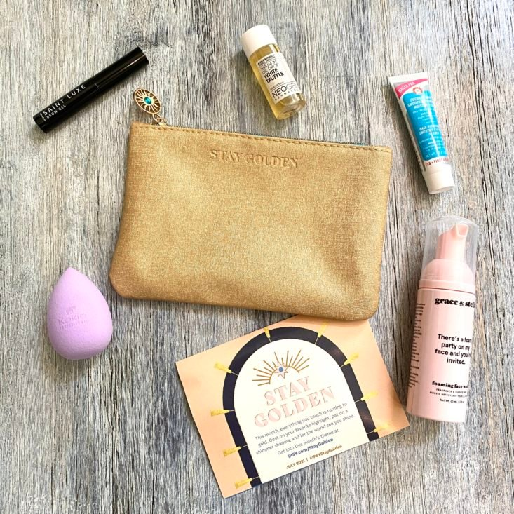Full Contents for Ipsy Glam Bag July 2021
