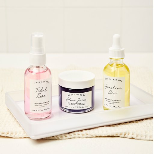 Seas the Day Luxury Skincare Bundle with two spray bottle and one jar