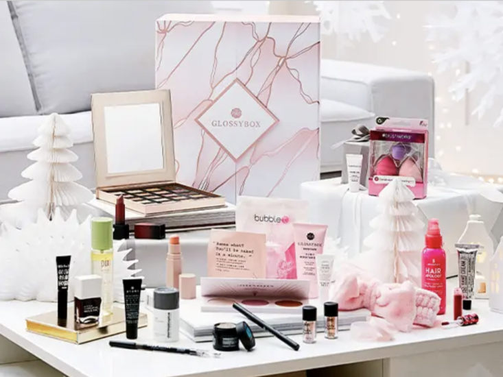 collection of glossybox makeup