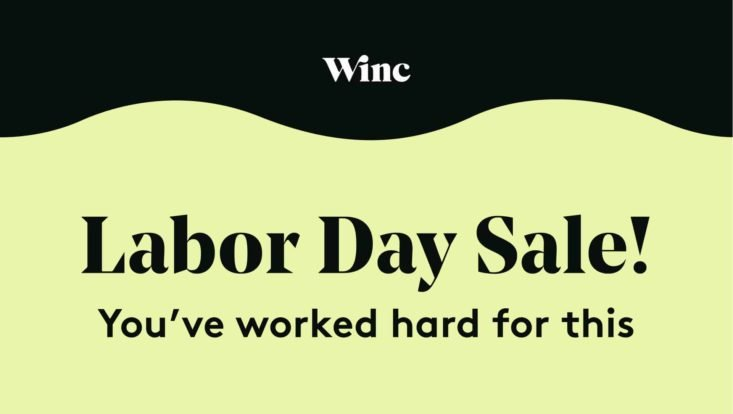 Winc gif about Labor Day sale