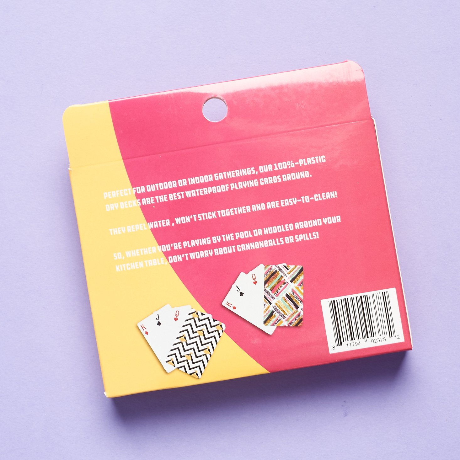 Back of Nod Products Waterproof Playing Cards for Bombay and Cedar Lifestyle Box July 2021
