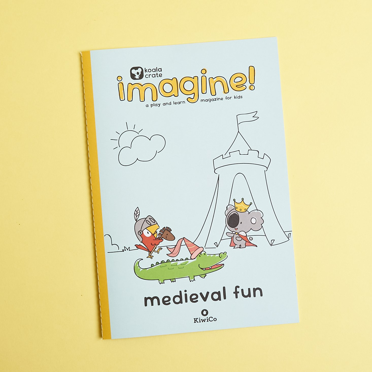 Activity book from Koala Crate Medieval Fun