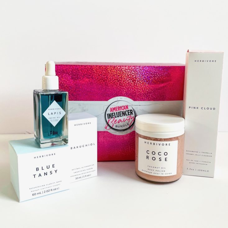 group shot showing all products in box